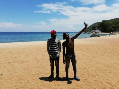 Ramos and Wit at Chikale bay