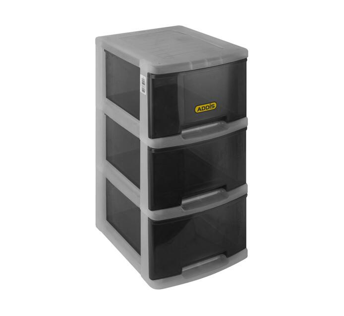 Addis 3-Drawer Storage Set- Smokey Black