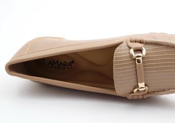 Alaina lizard pu comfort wedge camel