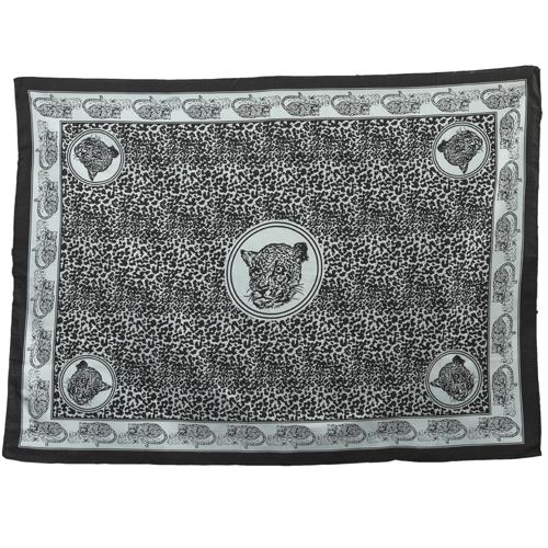 Fabric Animal Khanga Cheetah Black and White