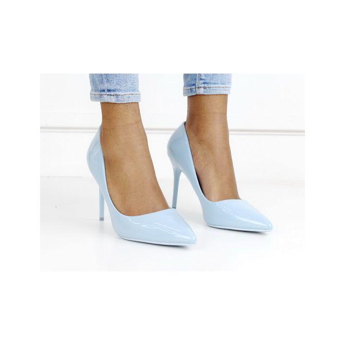 Fonda patent pu court on 10cm heel blue