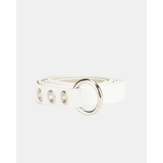 Joy Collectables Circle Detail Belt White