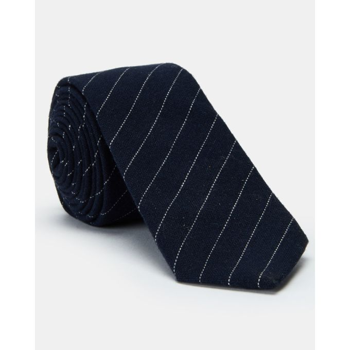 oy Collectables Fashion Stripe Tie Navy