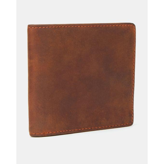 Joy Collectables Leather Billfold Zip Wallet Choc