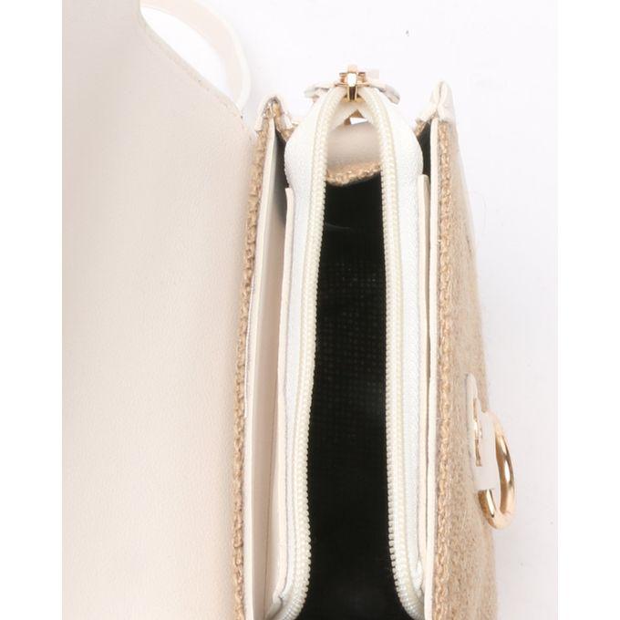 Joy Collectables Simple Crossbody Bag White