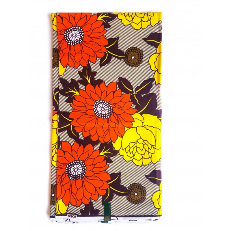 Mixed Flowers African Print Fabric