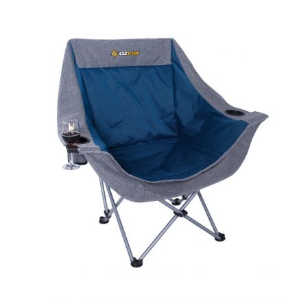 Oztrail Moon Chair Single With Arms -120Kg