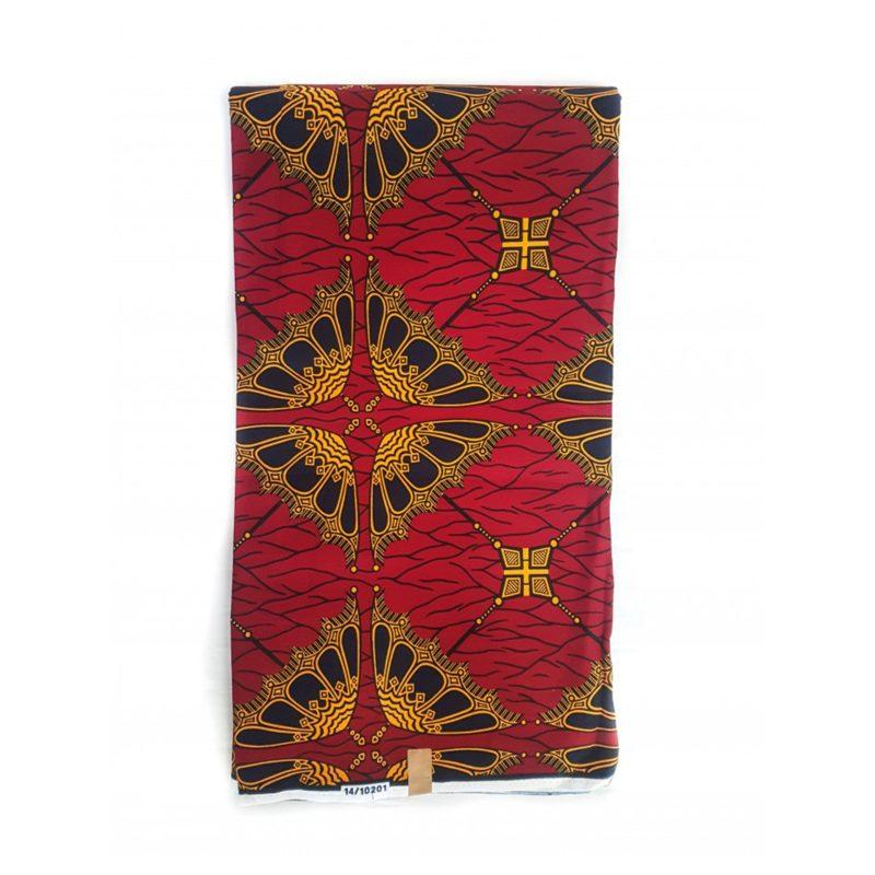 Red Mvane African Print Fabric