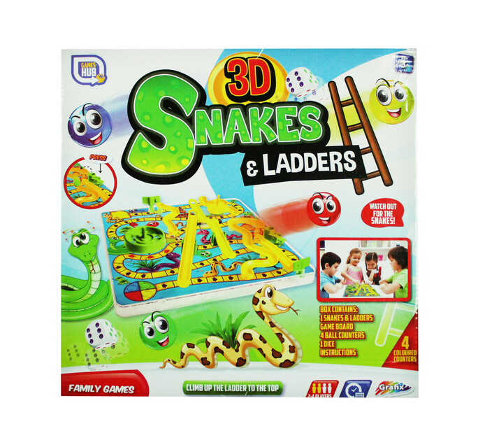 Snakes and Ladders 3D Game