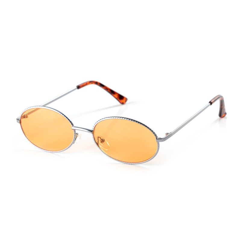 MKM SILVER DENTED OVAL SUNGLASSES