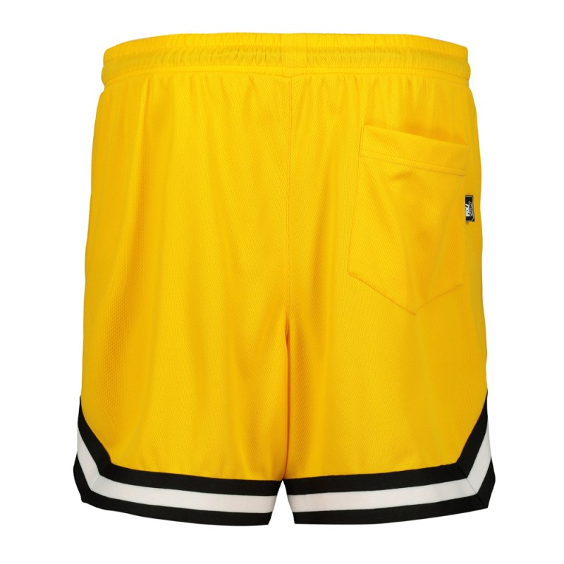 Men's Yellow Mesh Basketball Shorts