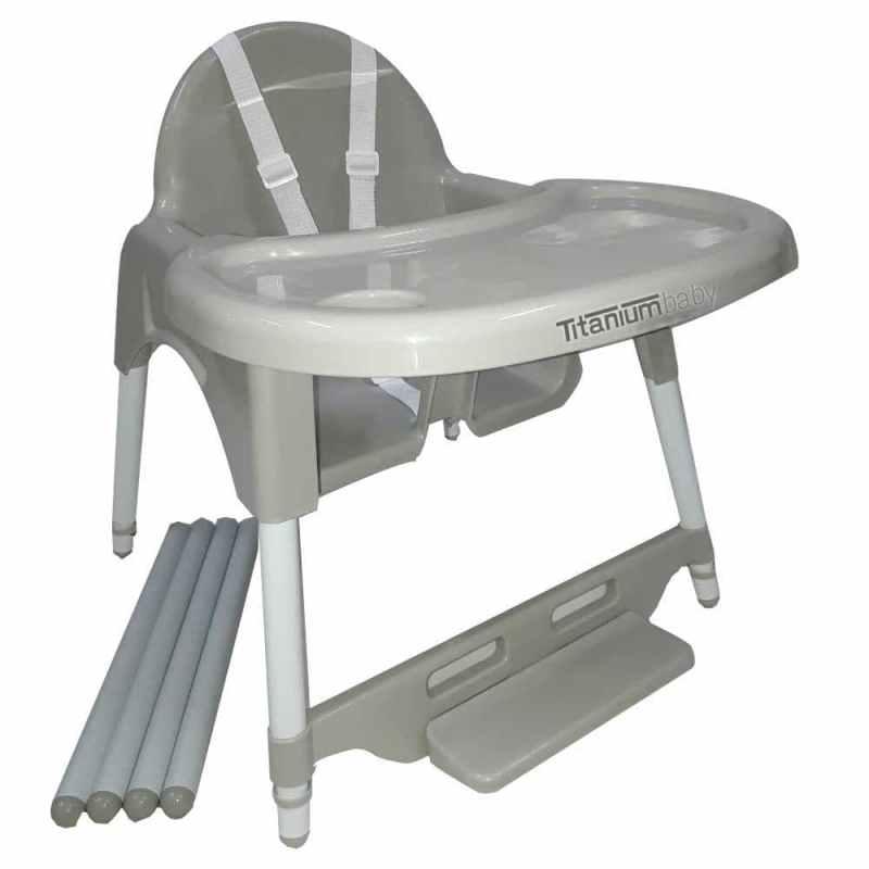 Titanium Baby Feeding High Chair Mini Grey