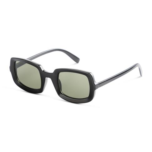 Men's Black Lens Rectangle Sunglasses