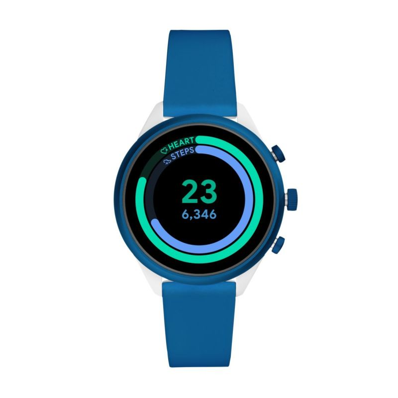 Fossil Sport Smartwatch 41mm Blue Silicone - FTW6051