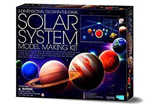 Glow Solar System Mobile Making