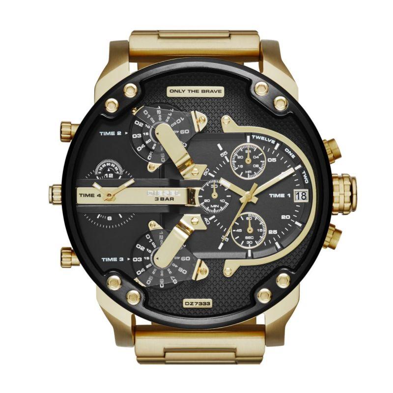 Diesel Men's Mr. Daddy 2.0 Gold Round Stainless Steel Watch - DZ7333