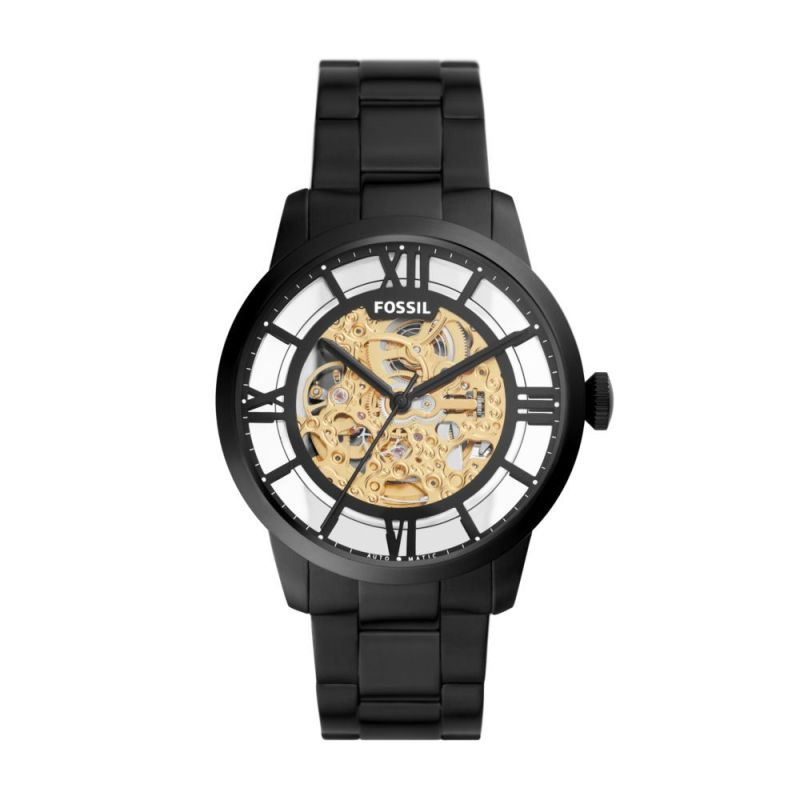 Fossil Men's 44mm Townsman Automatic Black Stainless Steel Watch - ME3197