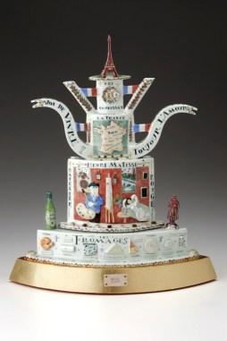 """Belle France"" 2005 Sculptural Teapot. 22"" x 19"" x 8.5"" Private Collection."