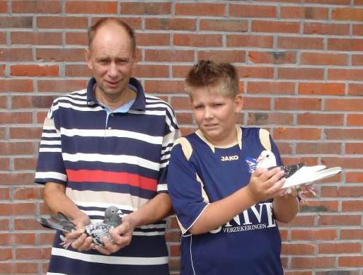 Hans en Eelke de Ruig, Oudebildtzijl, winnen Limoges in Afdeling Friesland