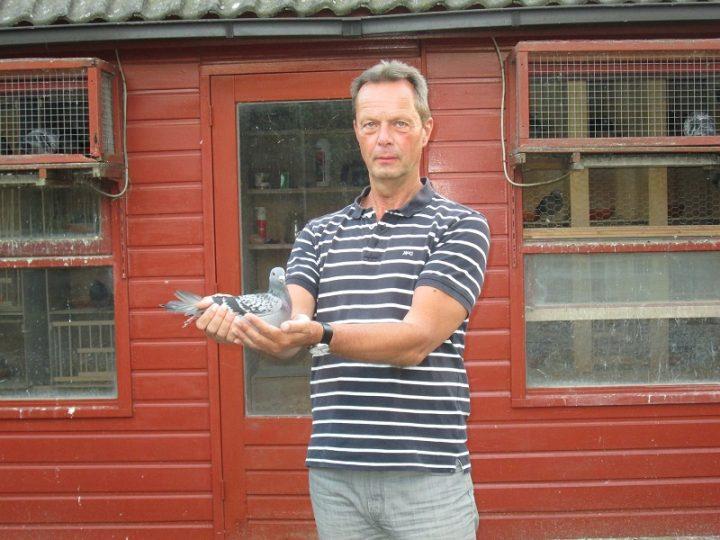 Bert Prasing, Lelystad, winnaar Nationaal Agen ZLU bij de oude duiven