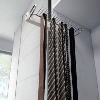Symmetry Tie Rack - White/Chrome -- 141-703221-S ...