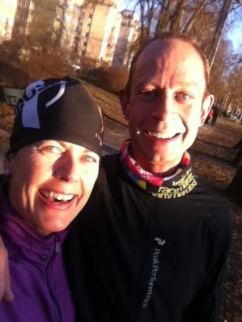 Han stoppa snabbfotingen innan han tänkte avsluta sin runda. Jag och Johan Holmberg i solskenet. Foto: privat
