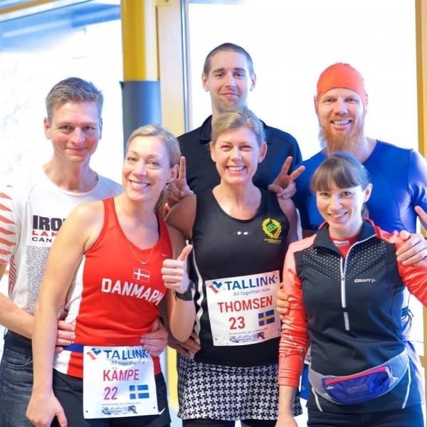 Thomas, Roxen, Johnny, Diana, jag och Ellen innan start. Foto: privat
