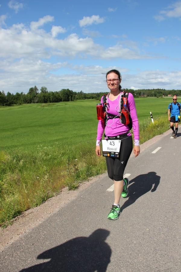 Pia Rosvall gör det ingen annan kvinna någonsin gjort, nämligen går i 69 timmar. Så coolt! Foto: privat