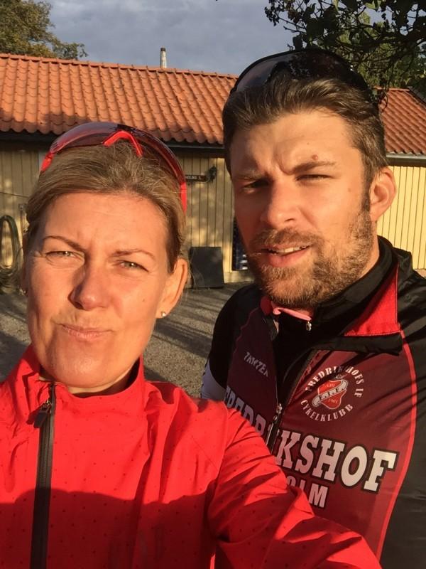 Två fikapauser på 62 kilometer, nästan som ultralöpning ju! Foto: privat