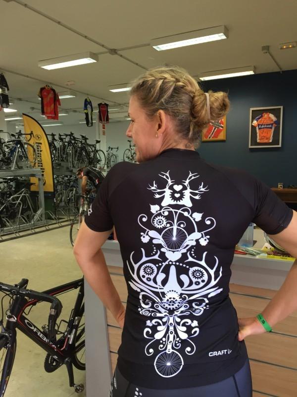 Fantastiska cykelkläder tåls att visas upp! Foto: privat