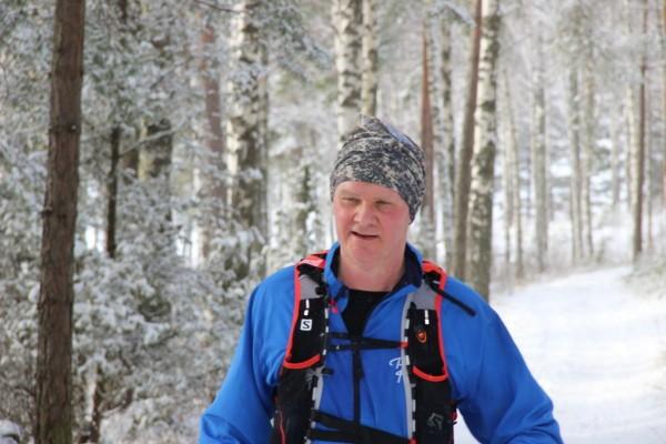 Anders Scharp precis innan fjärde varvningen. Foto: privat