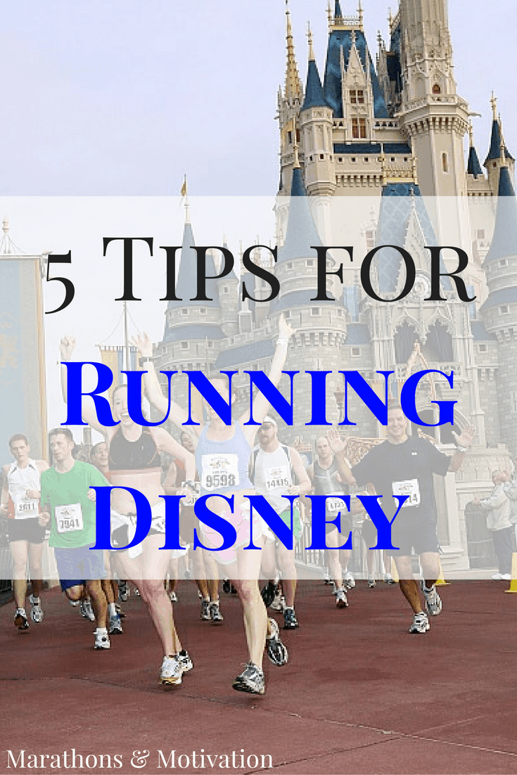 Running through Cinderella's Castle at the Walt Disney World Marathon