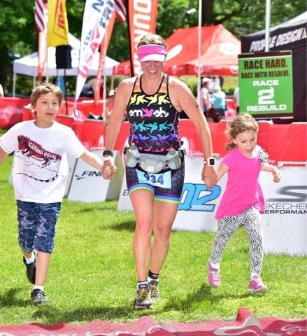 Crossing the Challenge Quassy 70.3 Finish Line in 2015