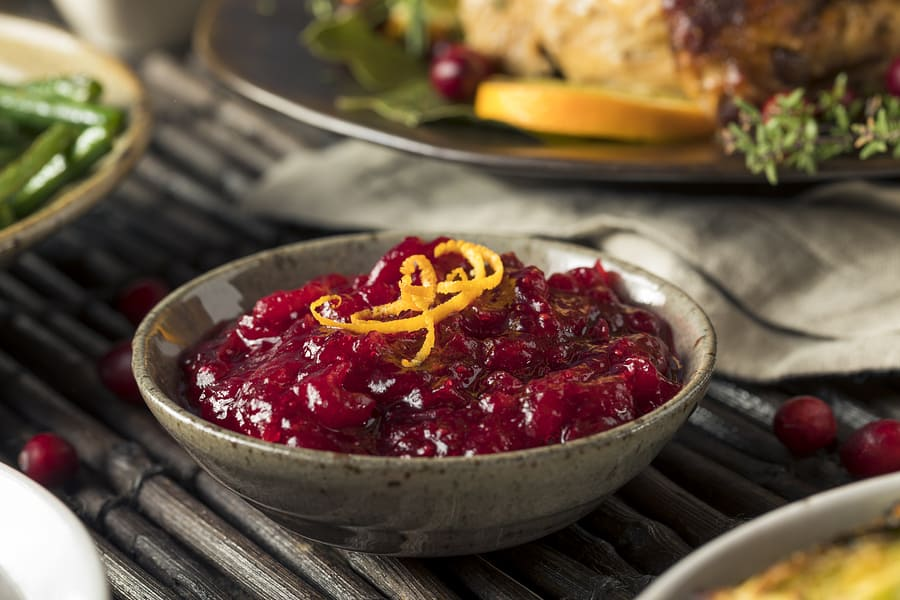 Homemade Thanksgiving Cranberry Sauce with Orange Zest