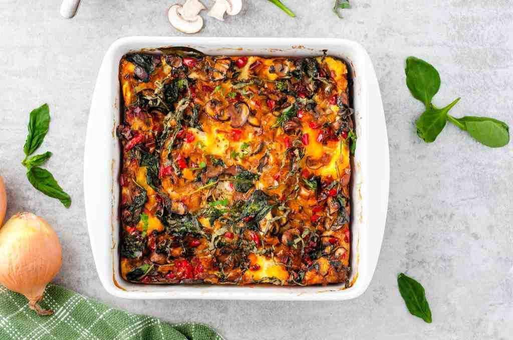 Baked vegetarian breakfast casserole