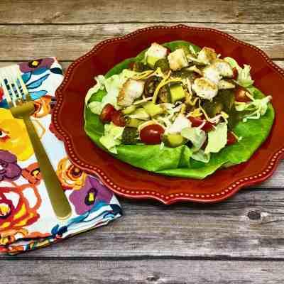 Gluten Free Veggie Burger Salad with the Works!