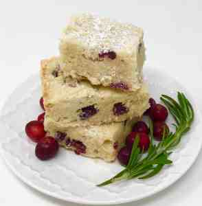 Cranberry and Rosemary Shortbread