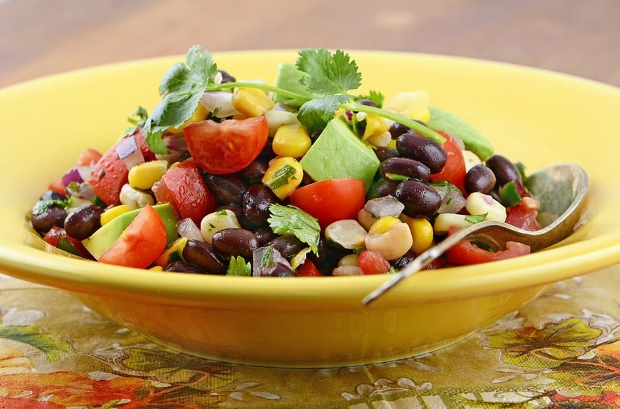 Corn, Black Bean and Mango Salad
