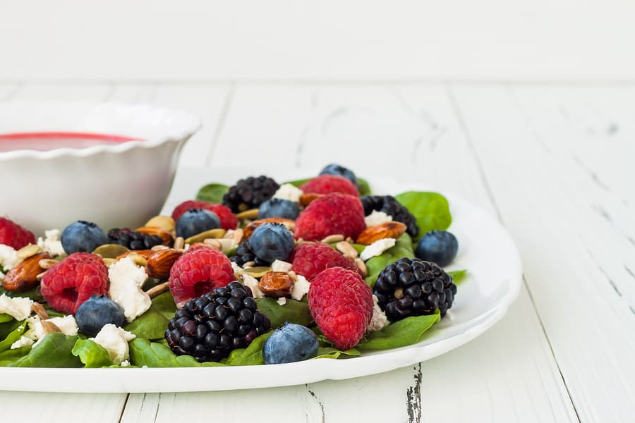 Spring Mix with Berries & Balsamic Vinaigrette