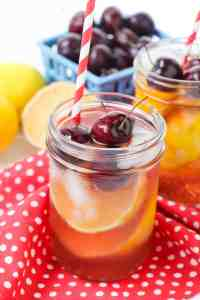 Fresh and Healthy Cherry Lemonade