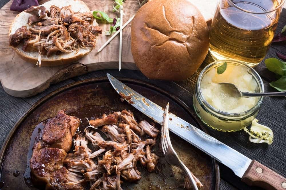 Apple Butter Pulled Pork Sandwiches