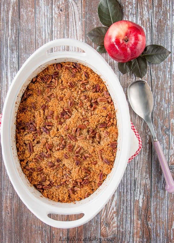 Apple and Butternut Squash Casserole with Pecan Crumble