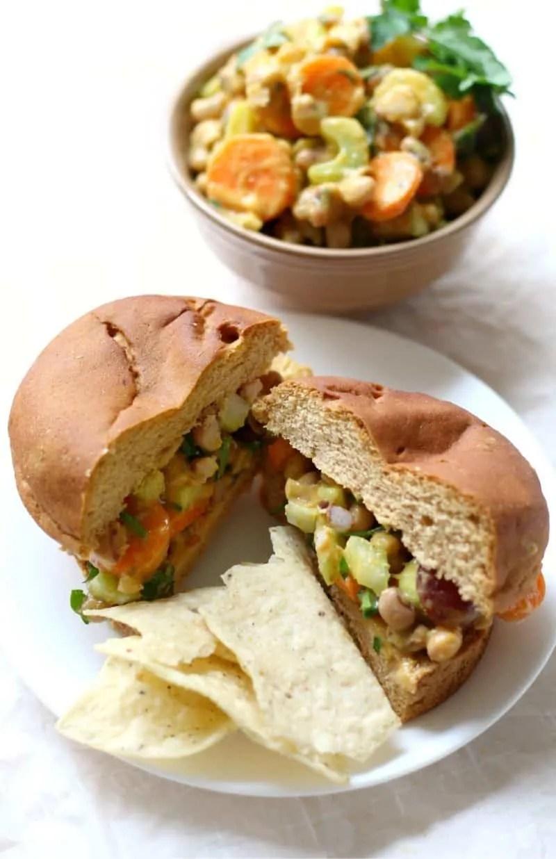 Curried Black Eyed Pea Sandwich