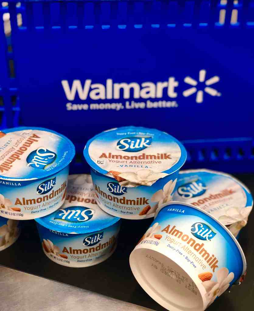 Silk Almond milk yogurt at Walmart