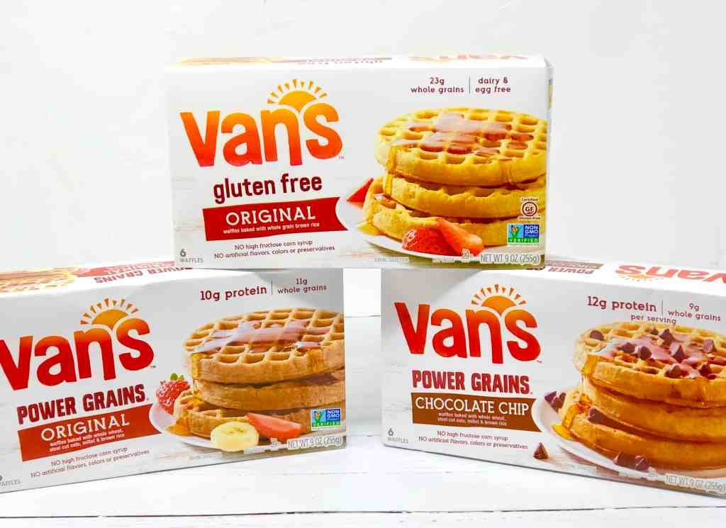 Vegetarian Waffle Sandwiches made with Van's Waffles