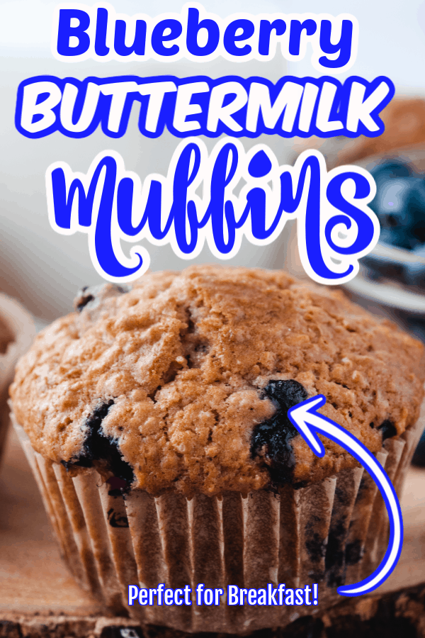 Pin for Blueberry Buttermilk Muffins