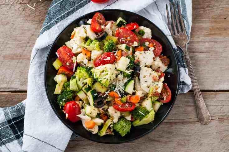 Easy Broccoli Cauliflower Crunch Salad