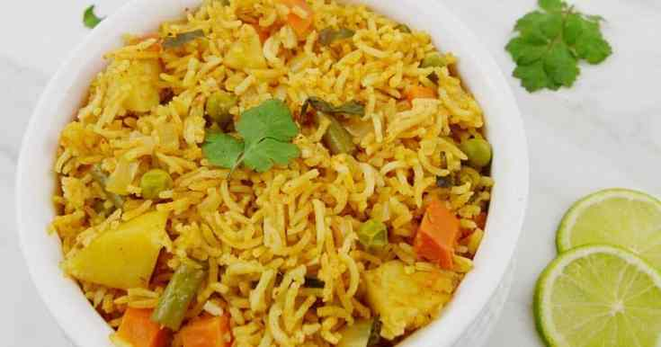 Vegetable Masala Rice (Vegan One-Pot Rice + Video)