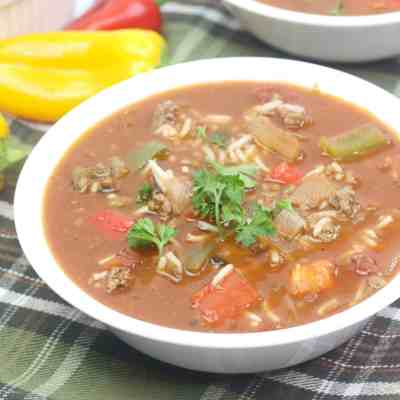 Easy Stuffed Bell Pepper Soup