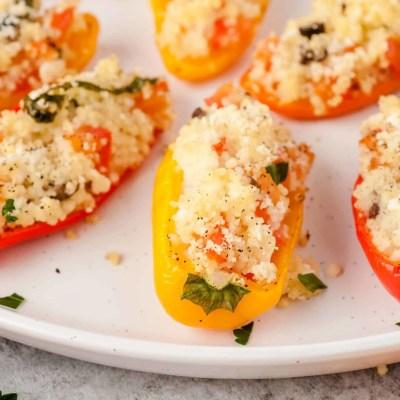 Mediterranean Couscous Stuffed Mini Peppers